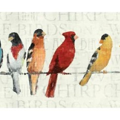 Red Kitchen Rugs And Mats Moen Motionsense Faucet Barrel Studio The Usual Suspects Birds On A Wire Wall ...