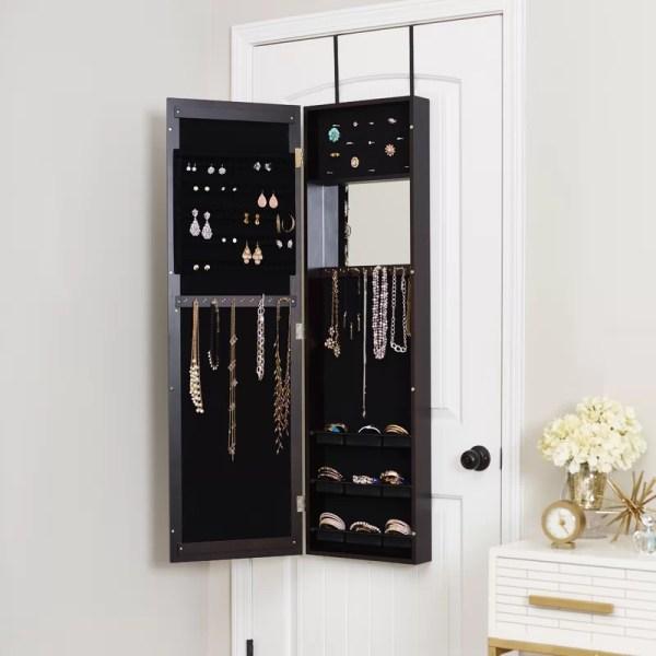 Mercury Row Modern Over Door Jewelry Armoire With