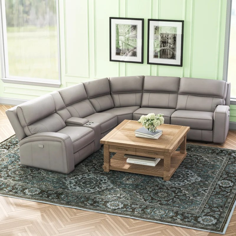 arty 135 wide faux leather right hand facing reclining corner sectional