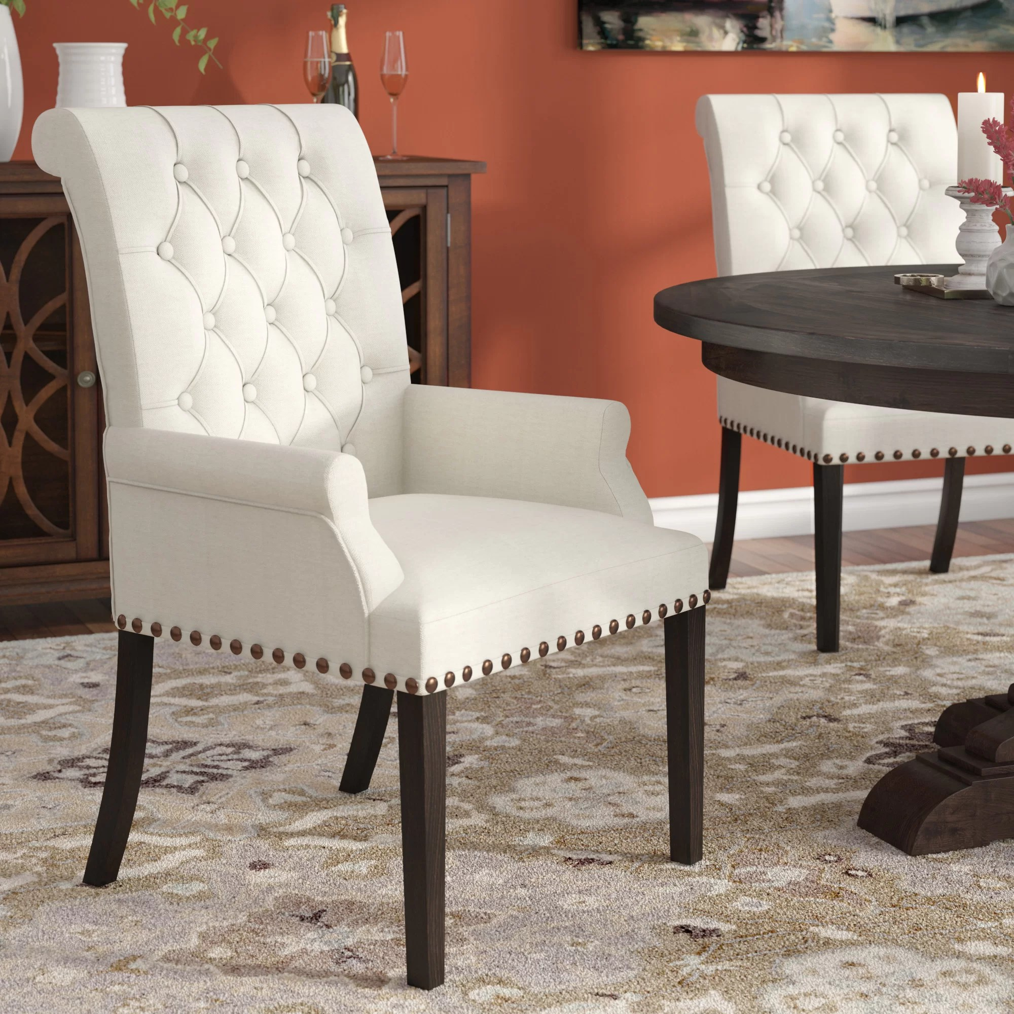 Upholstered Living Room Chairs Bumgardner Upholstered Dining Chair