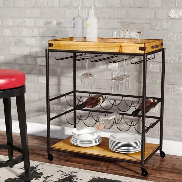 Trent Austin Design Kahnah Bar Cart  Reviews  Wayfair