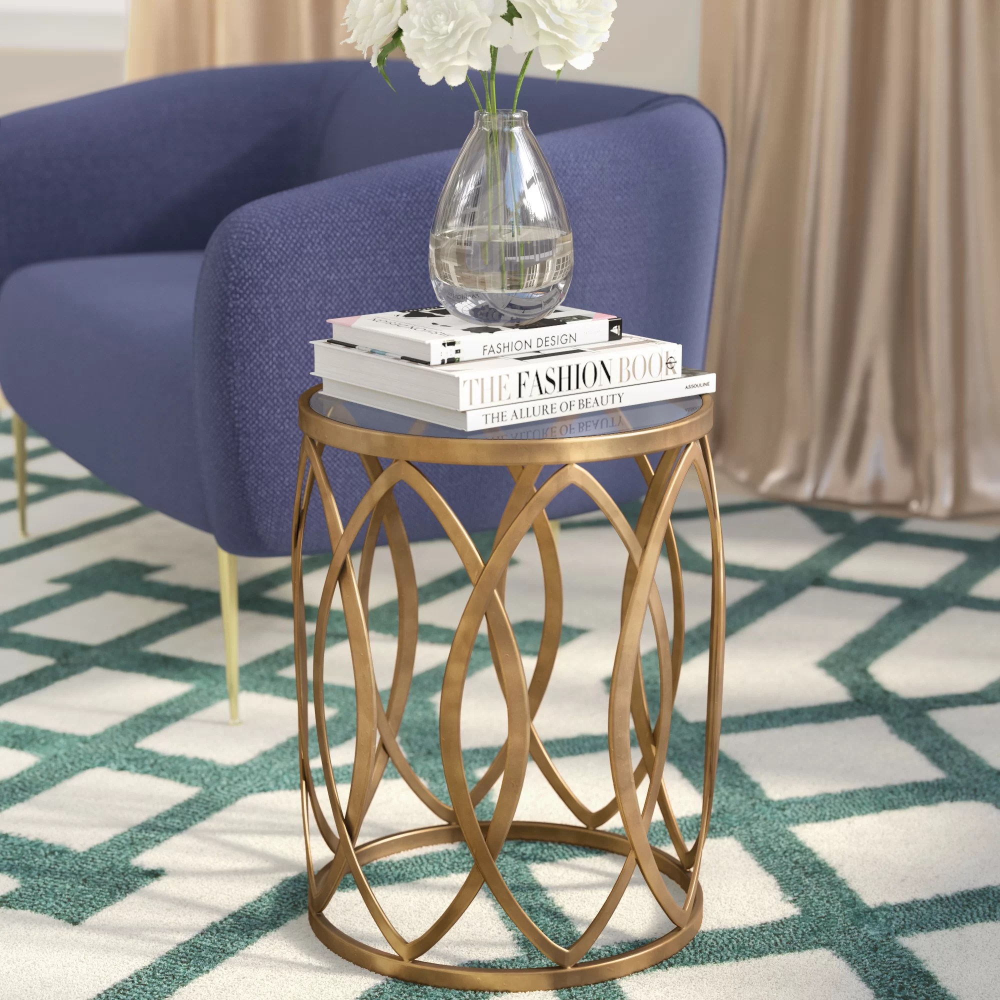 glass end side tables free shipping