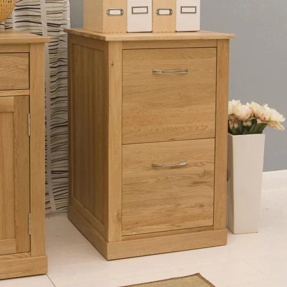 Baumhaus Mobel Oak 2 Drawer Vertical Filing Cabinet