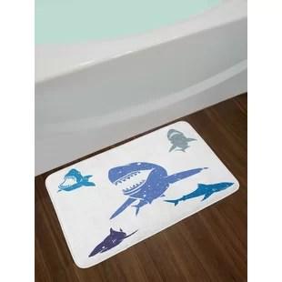 blue kitchen rugs island lighting fixtures royal wayfair shark bath rug