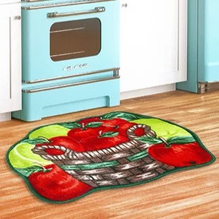 apple kitchen rugs refacing cabinets green rug wayfair basket red area