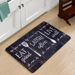 Kitchen Rug 30 Undermount Sink Decorative Floor Mats Wayfair Chilton Oversized Eat Laugh Live Mat
