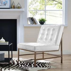 white leather slipper chair barrel club chairs minimalist wade logan keri patent