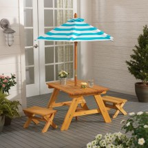 Kidkraft Outdoor Kids' 4 Piece Picnic Table Set With