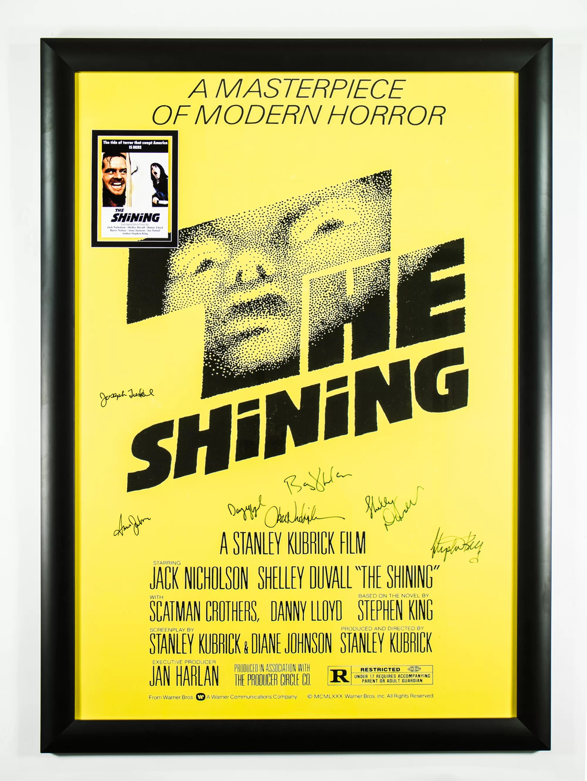 luxewest the shining framed autographed movie poster wayfair