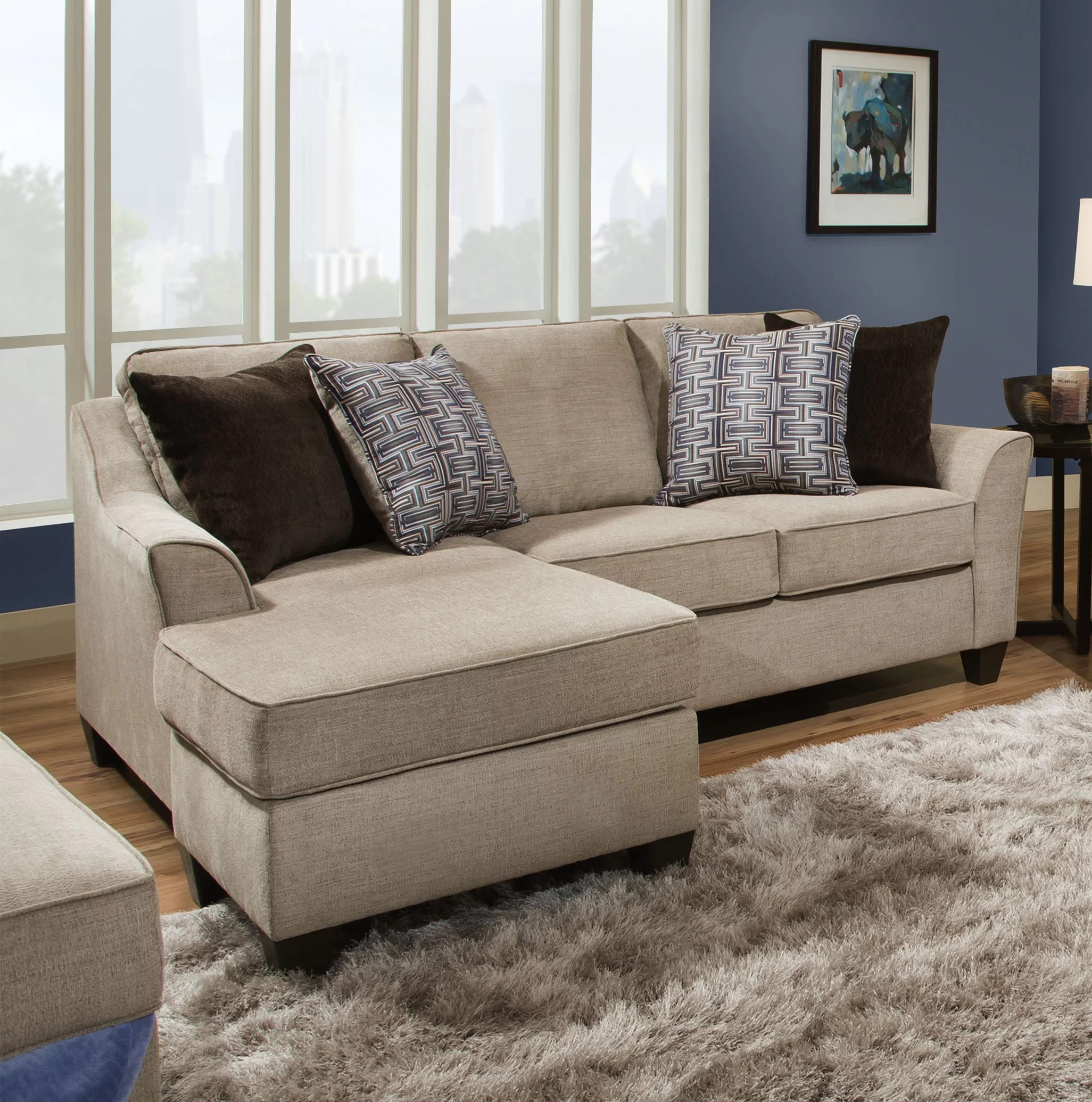 2 colors sectional sofa made in usa