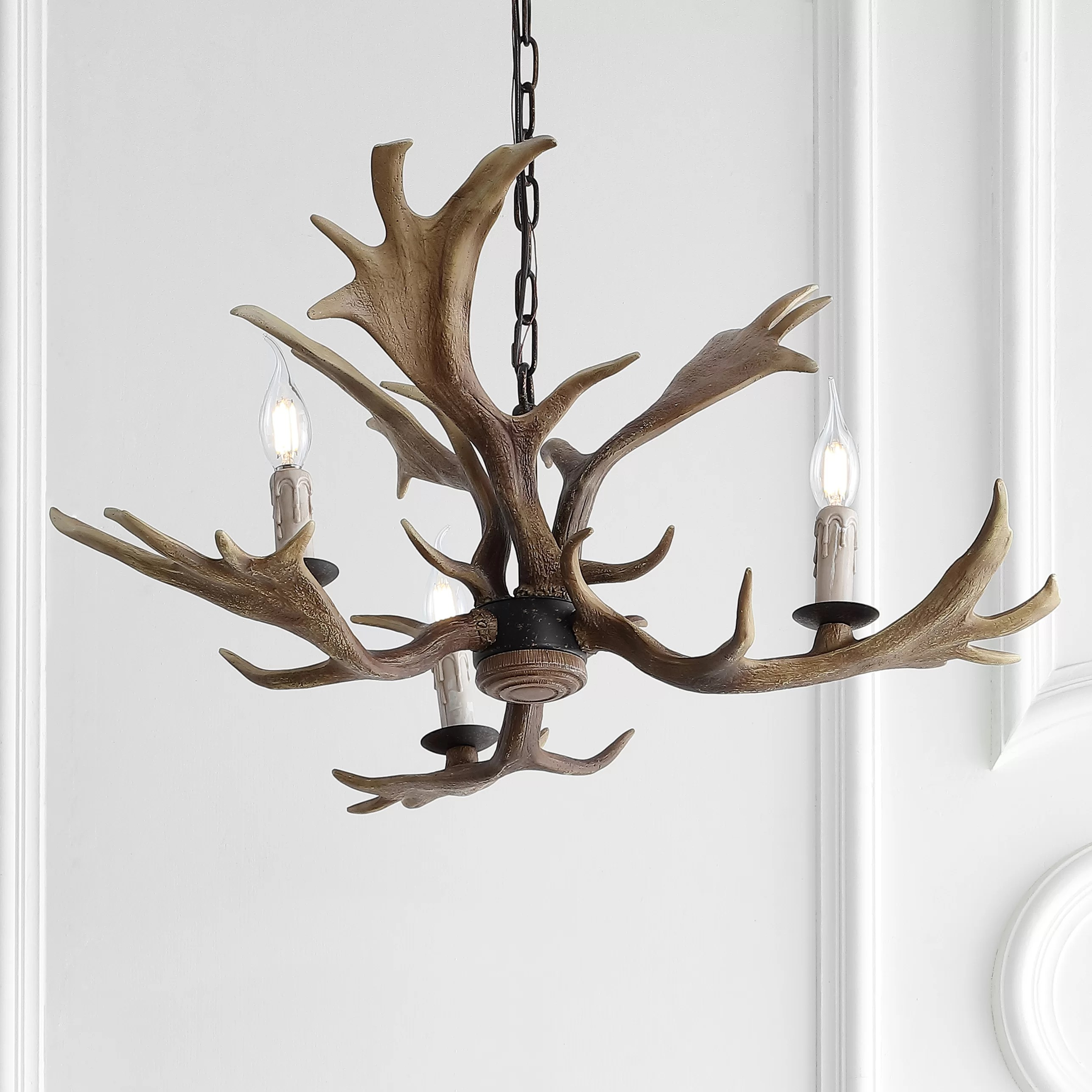 Lamp Repair Refurbishing 6 Resin Faux Antler Style Candelabra Candle Cover For Rustic Chandelier Fixture Medalex Rs