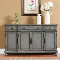 August Grove Giulia 3 Drawer Credenza & Reviews | Wayfair