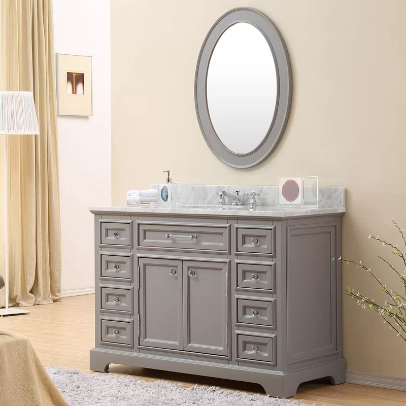 "darby home co colchester 48"" single sink bathroom vanity set"