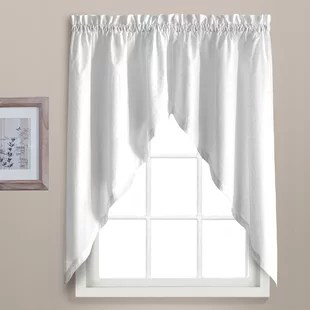 swag curtains for kitchen islands with seating 4 sheer wayfair quickview