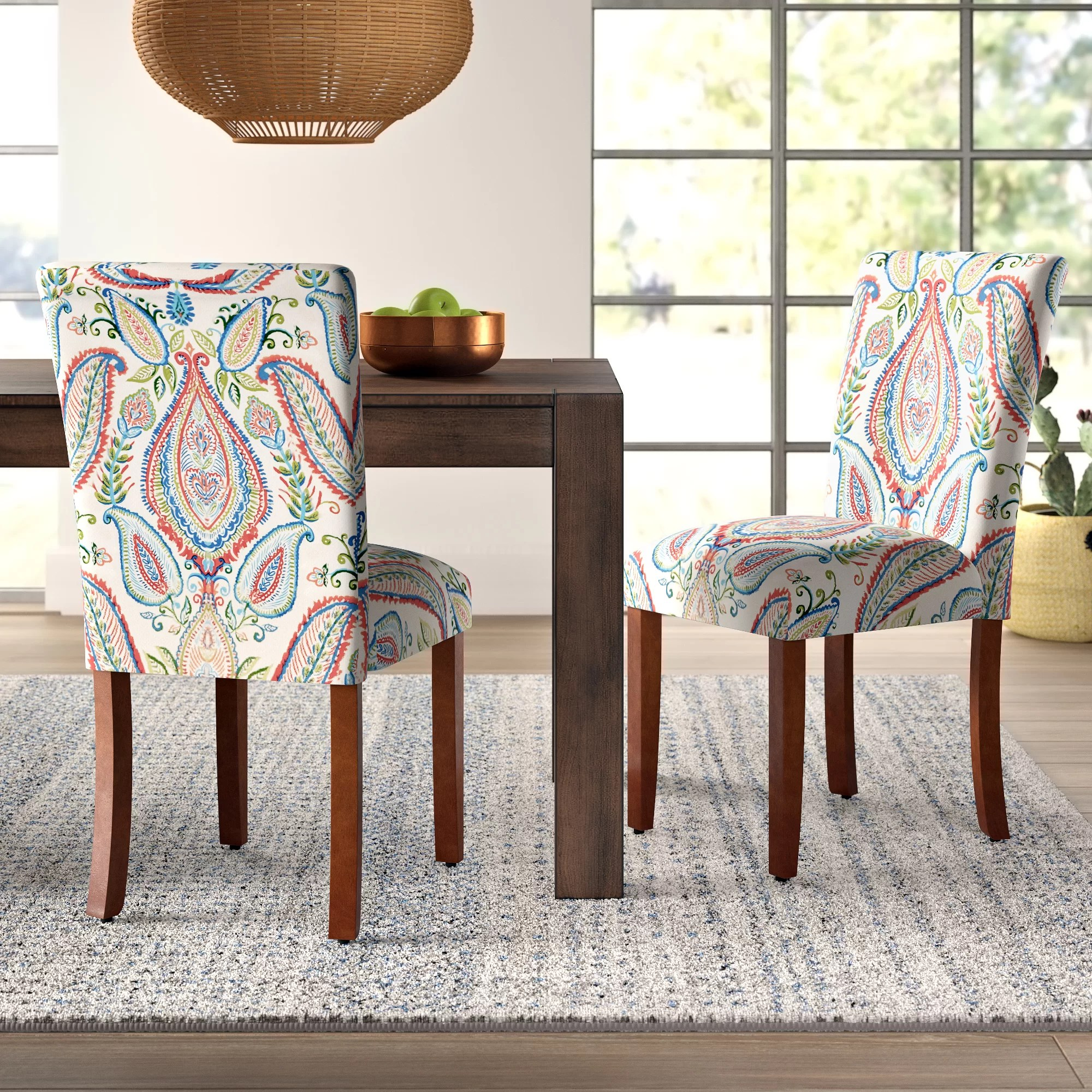 Paisley Chair Mistana Giana Paisley Upholstered Parsons Chair Reviews Wayfair Ca