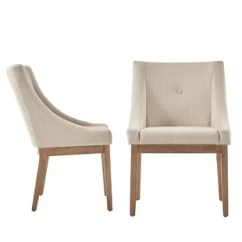 Beige Dining Chairs Chair Covers For Hire Parties Linen Wayfair Quickview