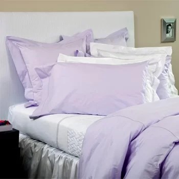 Percale 400 Thread Count Cotton Fitted Sheet Size: Queen