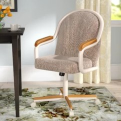 Rolling Kitchen Chairs Snake Sink Wayfair Gentry Mid Back Upholstered Dining Chair