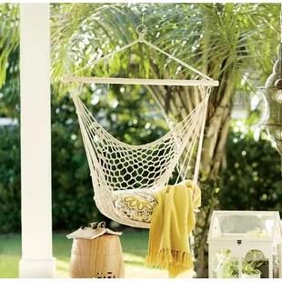 indoor hammock chair oval glides kids wayfair parker woven cotton
