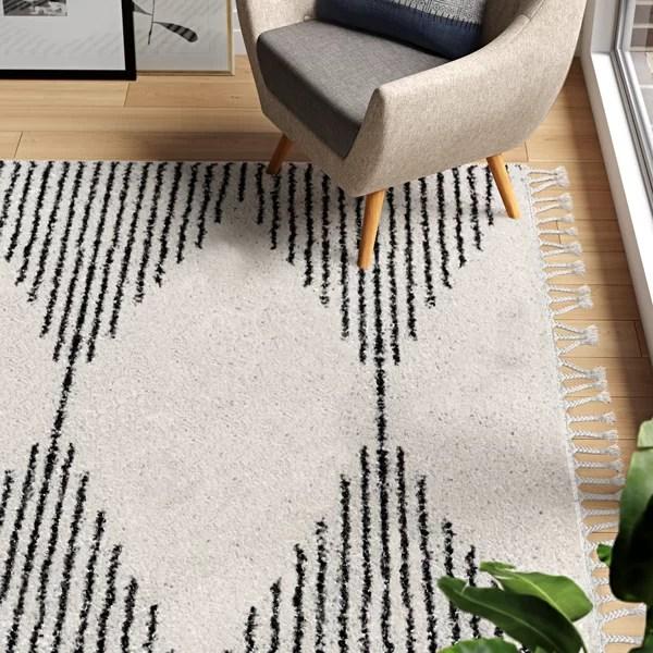 black and white diamond rug
