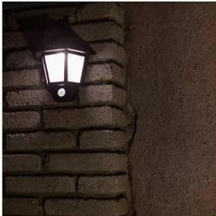 Prospect Solar Powered Motion Sensor Led 1 Light Outdoor Wall Lantern