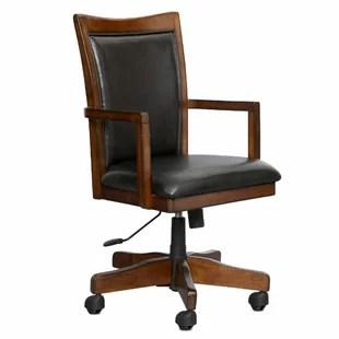 rustic office chair used barber western chairs wayfair keefe desk