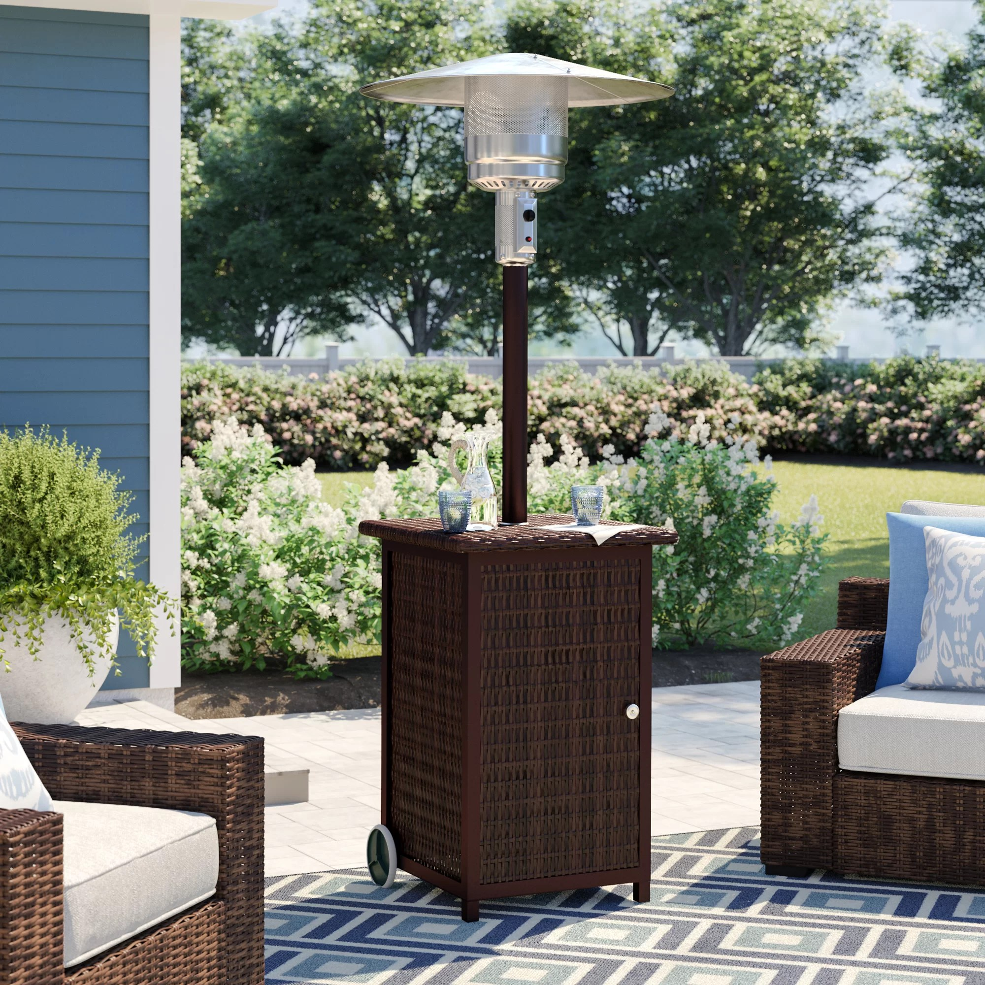 az patio tall stainless steel propane