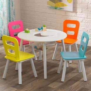 toddler chair and table for eating chiavari chairs sale miami modern kids wayfair storage 5 piece set