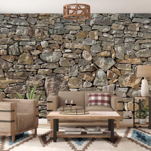 Loon Peak Chicopee 8 Piece Stone Wall Mural &