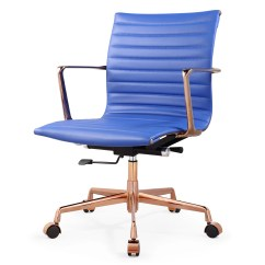 Blue Leather Office Chair Wooden Design And Price Meelano Aniline Reviews Wayfair