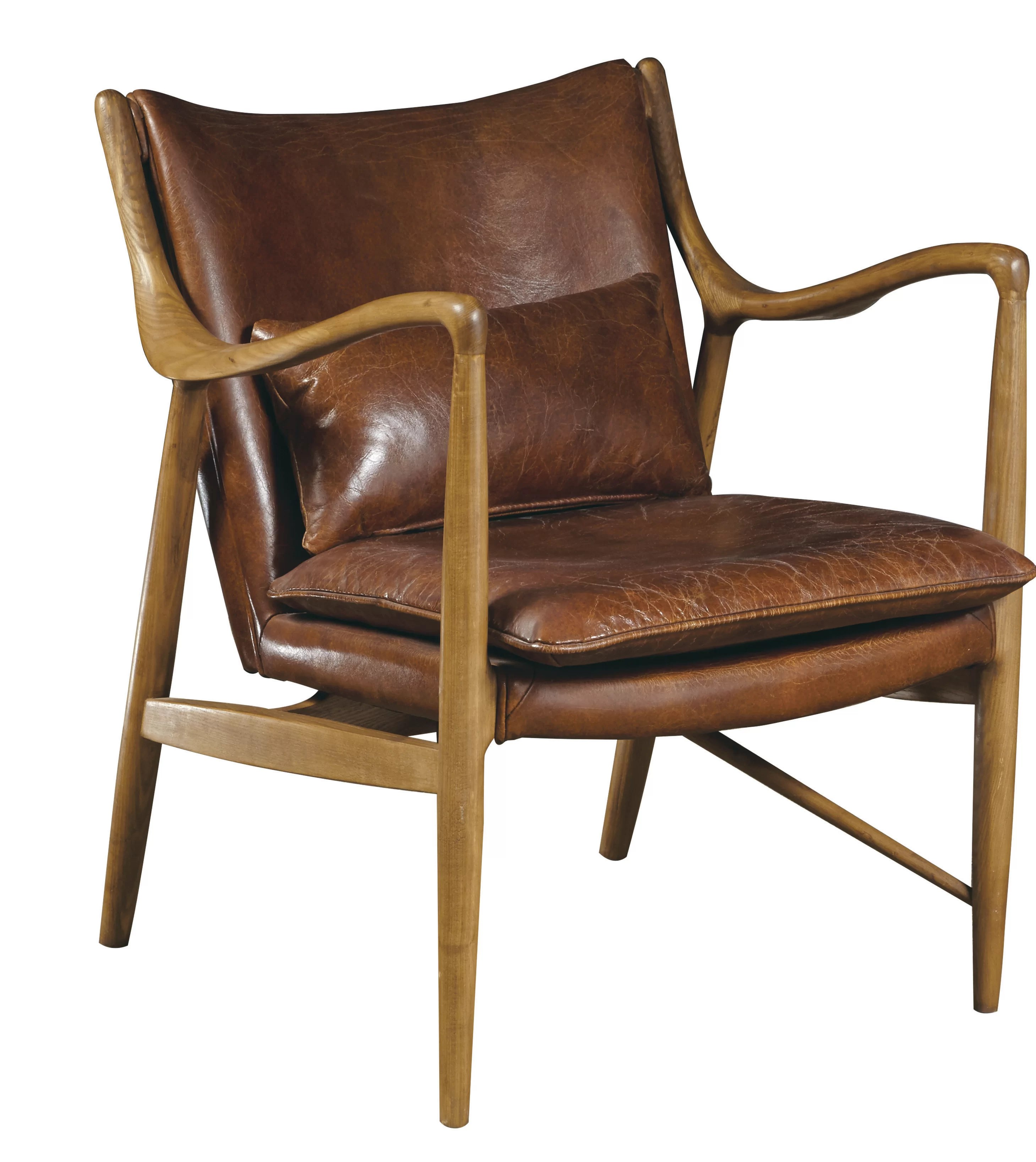 Leather And Wood Chair Harmony Armchair