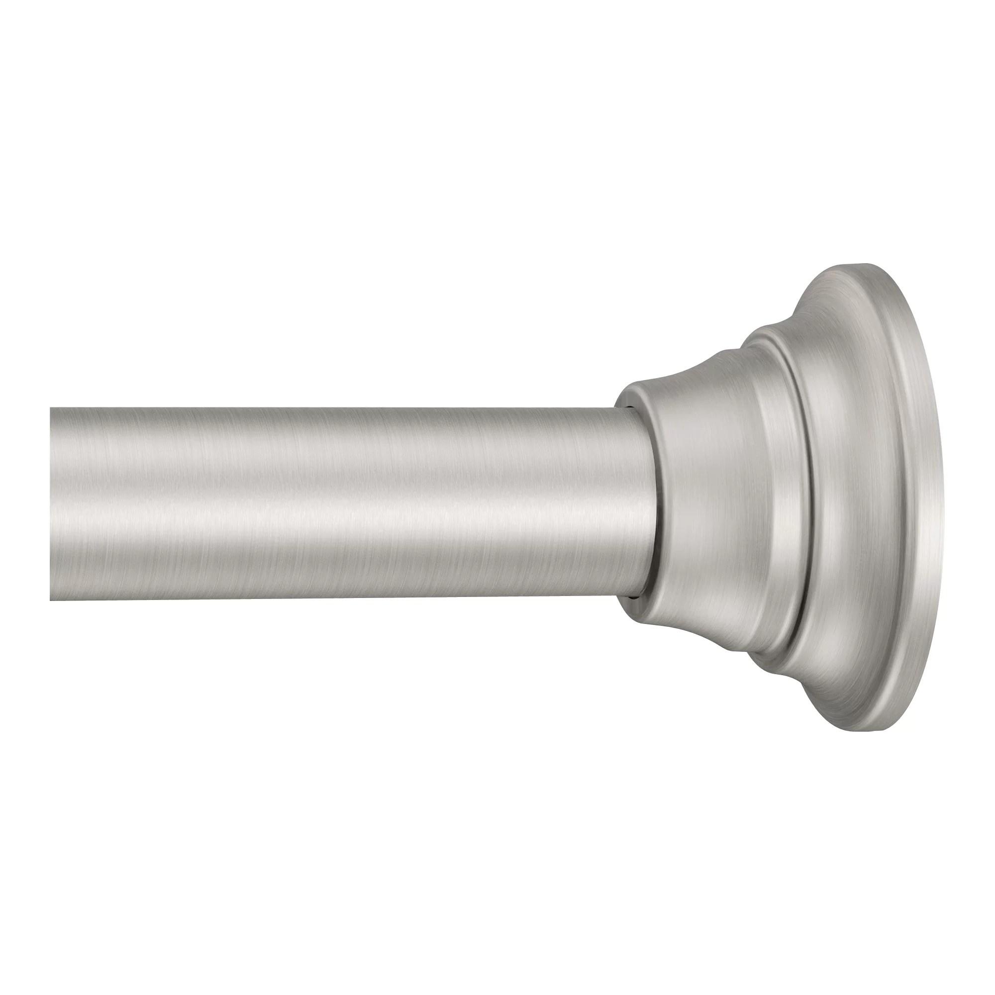 72 adjustable straight tension shower curtain rod