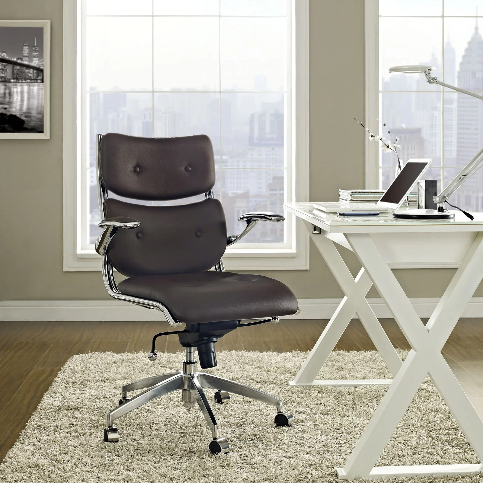 desk chair next ergonomic chairs for back support modway push mid and reviews wayfair