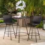 Wrought Studio Prevost Outdoor 3 Piece Bar Set Reviews Wayfair Ca