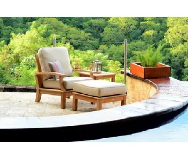 Monterey Teak Patio Chair With Sunbrella Cushions