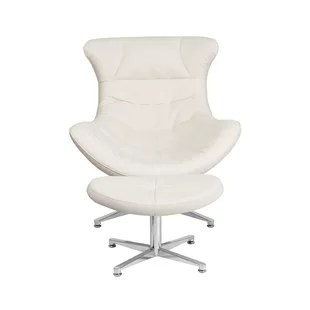 ivory leather office chair mid century modern living room chairs desk wayfair quickview