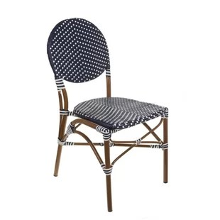 outdoor french bistro chairs school table and cafe wayfair stacking patio dining chair