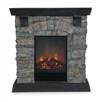 Stacked Stone Fireplace | Wayfair
