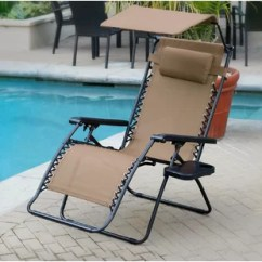 Xl Zero Gravity Chair With Canopy Sliding Pillow Folding Side Table Strong Back Chairs Extra Long Wayfair Quickview