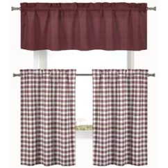 Kitchen Curtain Sets Cabinets Phoenix Area Red Valances Curtains You Ll Love Wayfair Quickview