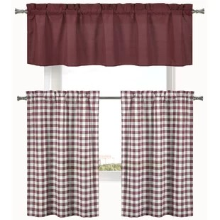 kitchen curtain sets modern table red valances curtains you ll love wayfair quickview