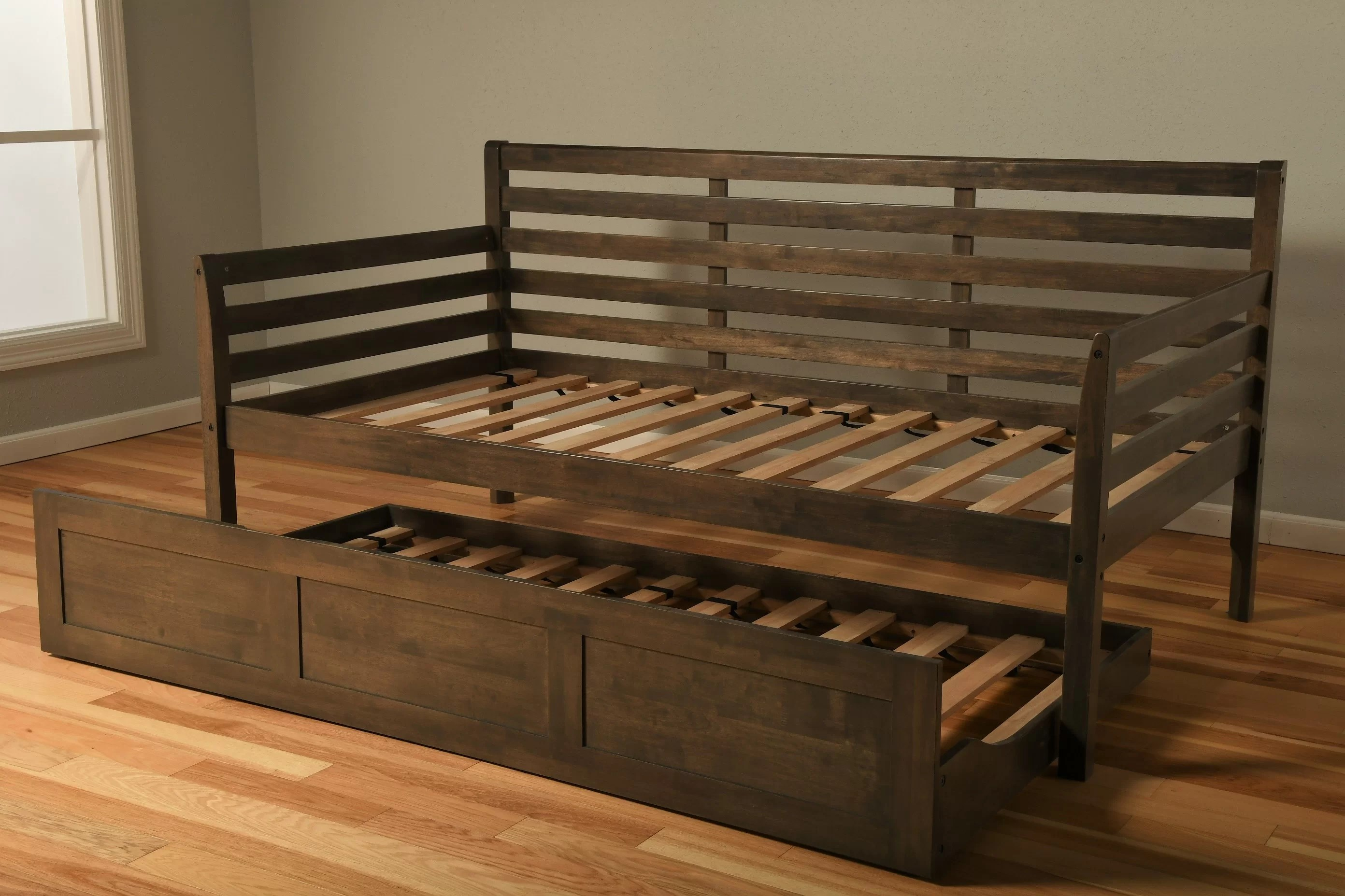 franco twin solid wood daybed frame with trundle