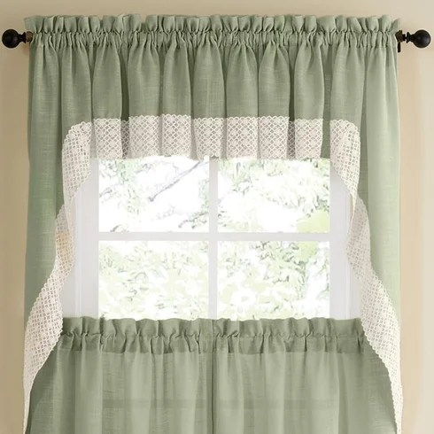 kitchen swag curtains lowes appliances sweet home collection salem curtain wayfair