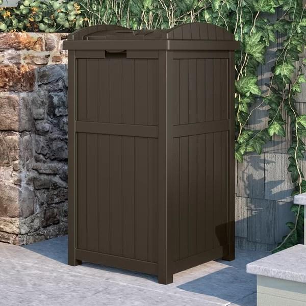 outdoor patio trash can
