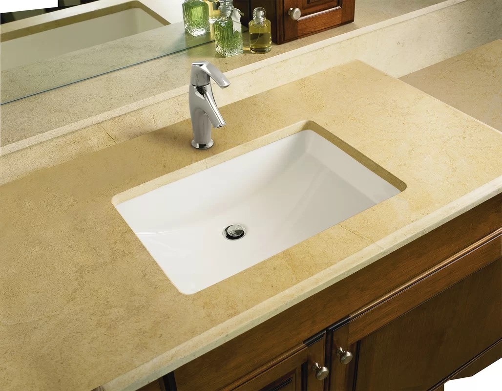 kohler ladena ceramic rectangular undermount bathroom sink with