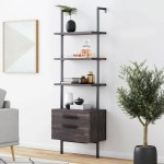 Moskowitz Open Shelf Industrial Ladder Bookcase