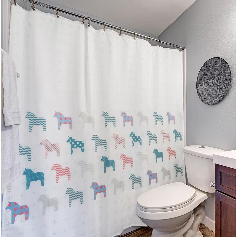 unicorns shower curtain anti slip