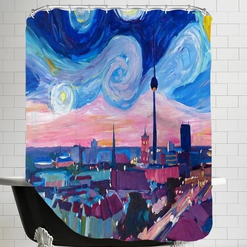 Mehaffey Markus Bleichner Starry Night in Single Shower Curtain