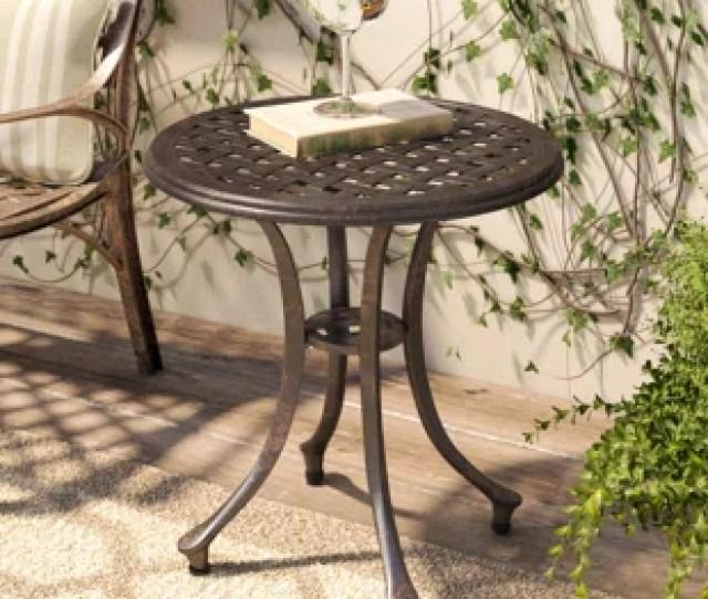 Kastner Outdoor Metal Side Table