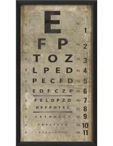 eye chart framed textual art also paper wall you ll love wayfair rh
